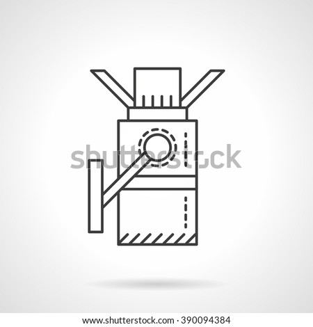 Metro turnstile. Pass equipment. Transportation services. Flat line style single vector icon. Element for web design, business, mobile app.  - stock vector