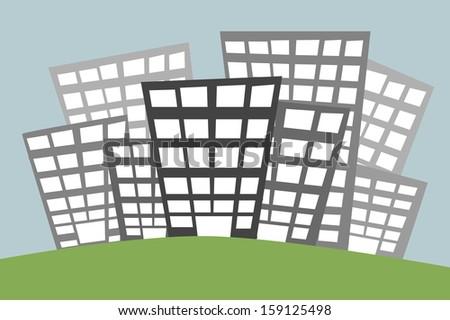 metropolitan city City vector  - stock vector