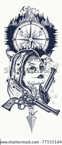 100 illustration inspiration santa muerte tattoo for Thoroughbred tattoo lookup