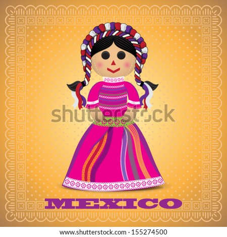 Mexican Doll - stock vector