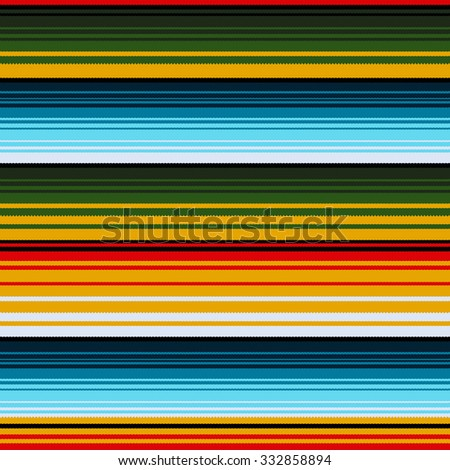 Mexican ethnic striped seamless pattern. Traditional folk handmade woven ornament. Vector illustration - stock vector