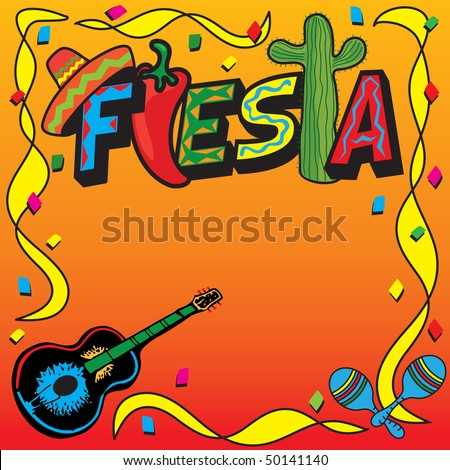Mexican Fiesta Party Invitation with room for your type