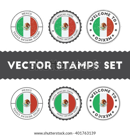 mexican flag grunge rubber stamp designs stock vector 401763139
