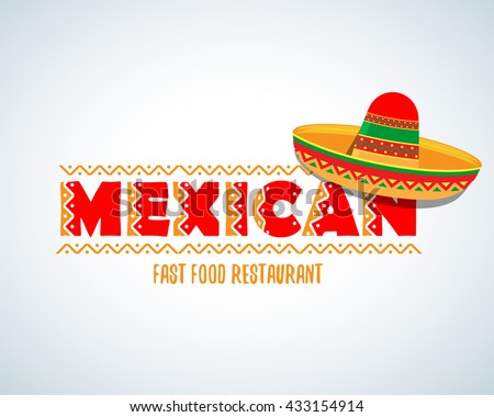 Mexican food logo. Mexican Fast food logotype template. Isolated Vector logo design template. - stock vector