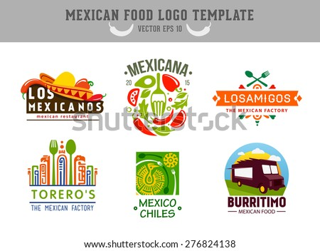 Mexican food logo. Vector logo design template - stock vector