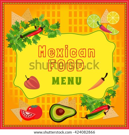 Restaurant Kitchen Illustration mexican food style mexican cuisine concept stock vector 424082866