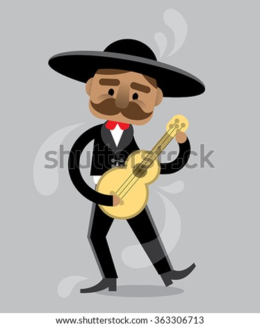 Mexican guy playing his guitar