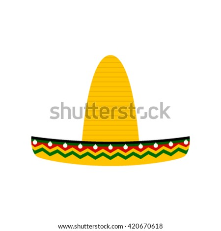 Mexican hat, sombrero isolated vector