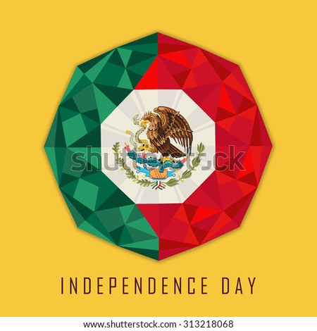 Mexican Independence day celebration abstract design background - stock vector