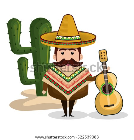 mexican man comic character