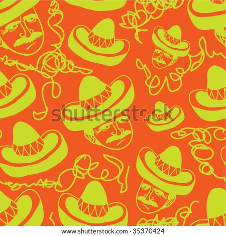 Mexican seamless pattern.