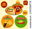mexican sticker food - stock photo