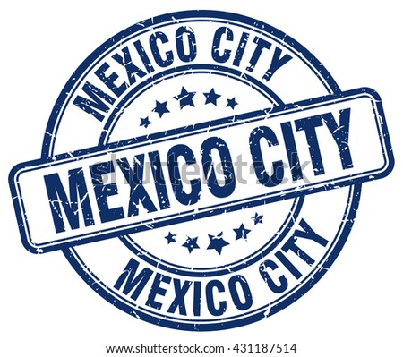 Mexico City blue grunge round vintage rubber stamp.Mexico City stamp.Mexico City round stamp.Mexico City grunge stamp.Mexico City.Mexico City vintage stamp. - stock vector
