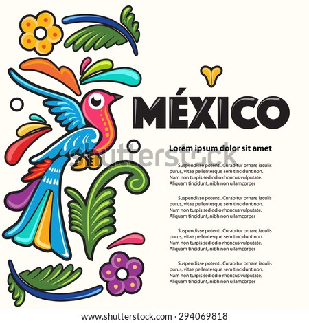 Mexico Composition - stock vector