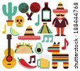 Mexico design over white background, vector illustration - stock photo