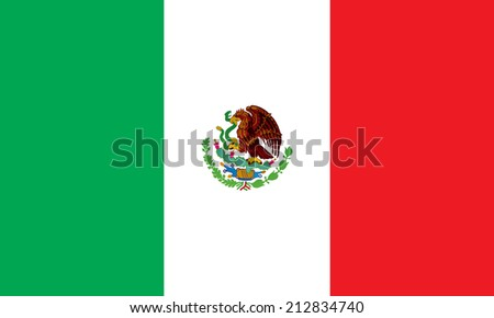 Mexico flag vector - stock vector