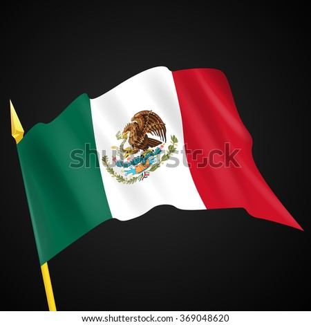 Mexico Flag. Vector illustration.