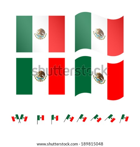 Mexico Flags EPS 10 - stock vector