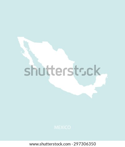 Mexico map vector in a faded background, Mexico map outlines for publication, science, and web-page template uses  - stock vector