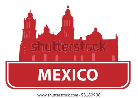 Mexico outline. Vector illustration