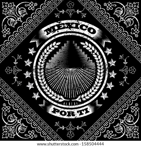 Mexico por ti pattern - stock vector
