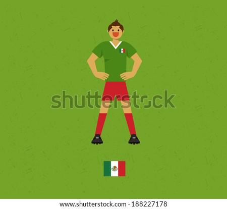 Mexico Soccer Tables  - stock vector