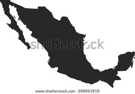 Mexico Vector Map - stock vector