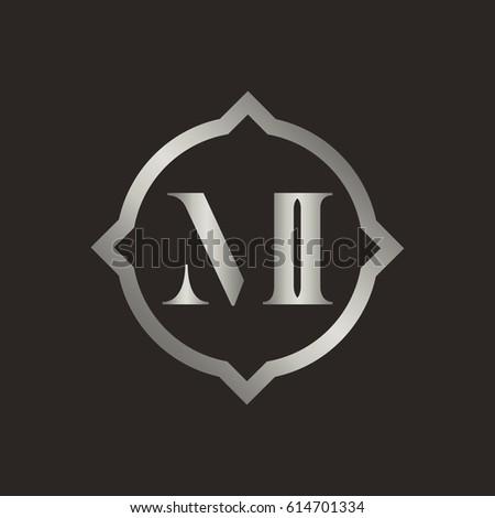 Stock Vector Logo Initial Monogram Ft