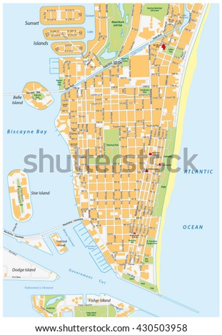 miami map stock images royalty free images vectors shutterstock