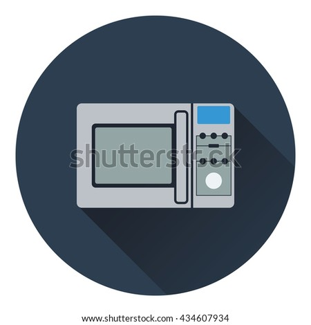Micro wave oven icon. Flat design. Vector illustration. - stock vector