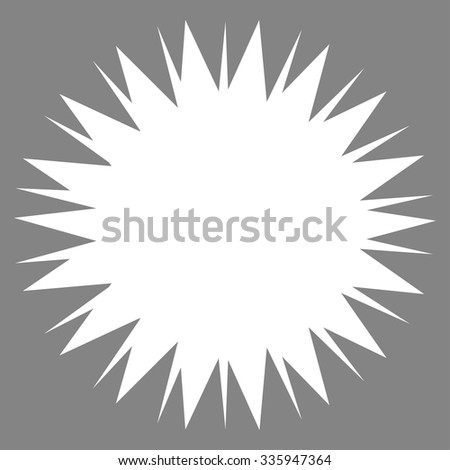 Microbe Spore vector icon. Style is flat symbol, white color, rounded angles, gray background.