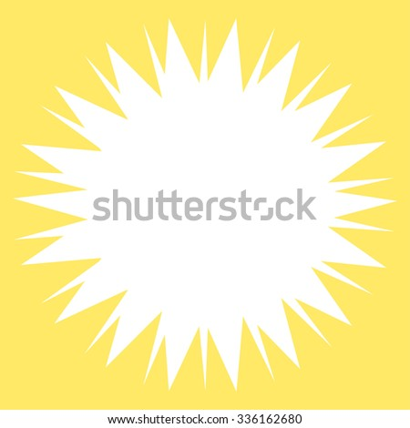 Microbe Spore vector icon. Style is flat symbol, white color, rounded angles, yellow background.