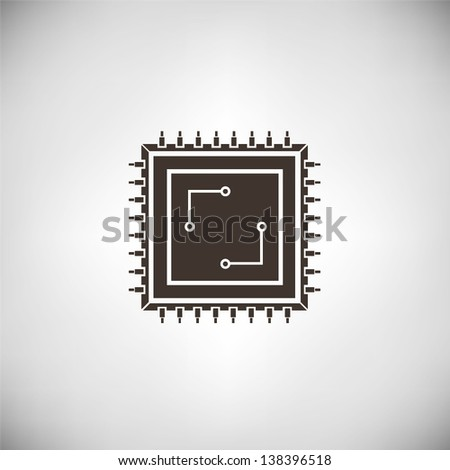 microchip - stock vector