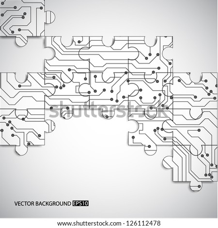 Microchip background. EPS10 vector - stock vector