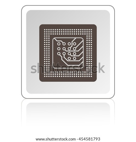 microchip with lead ball for repair computer equipment vector