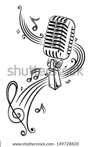 Tattoo also Isolated Microphone Stand 19093129 in addition Welder Pin Up Sketch Templates further Sleeping Dreaming Nightmare Snoring Insomnia Waking Up Pictogram 1291944 likewise Tidarattiemjai. on vintage microphone