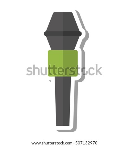 microphone audio device isolated icon vector illustration design