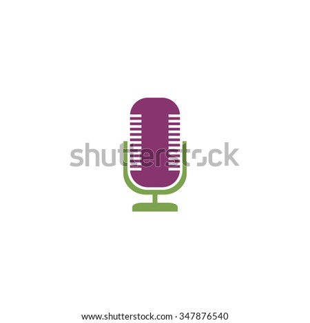Microphone Color vector icon on white background