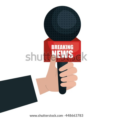 Microphone for news interview isolated icon design, vector illustration.