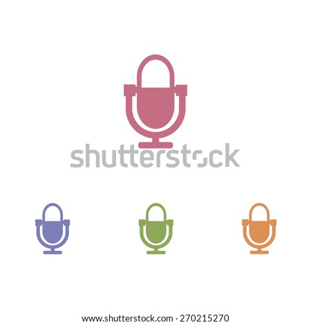 Microphone icon - stock vector