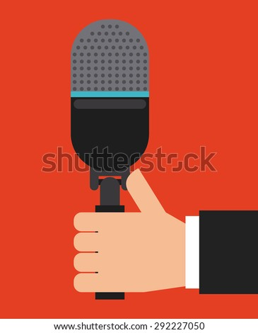 microphone icon design, vector illustration eps10 graphic  - stock vector