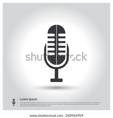 Microphone Icon. Record Icon. - stock vector