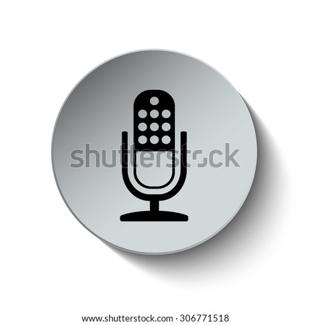 microphone icon. retro microphone icon. Button. EPS10. Illustration - stock vector
