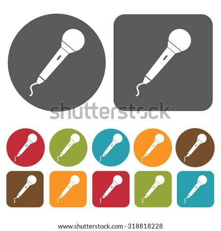 microphone icon set. Vector Illustration eps10. 
