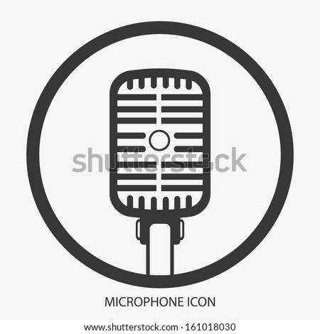 MICROPHONE ICON VECTOR - stock vector