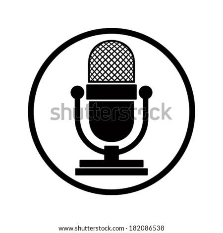 Microphone icon, vector. - stock vector