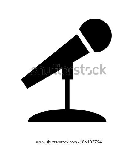 Microphone Icon- Vector - stock vector