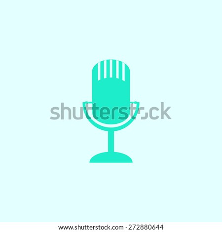 microphone icon, vector illustration. - stock vector