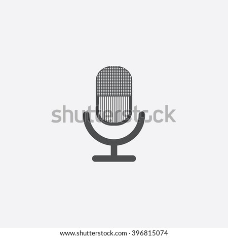 Microphone Icon Vector. Microphone Icon JPEG.  Microphone Icon Picture. Microphone Icon Image. Microphone Icon JPG. Microphone Icon EPS. Microphone Icon AI. Microphone Icon Drawing - stock vector