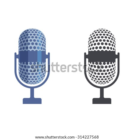 microphone illustration - stock vector
